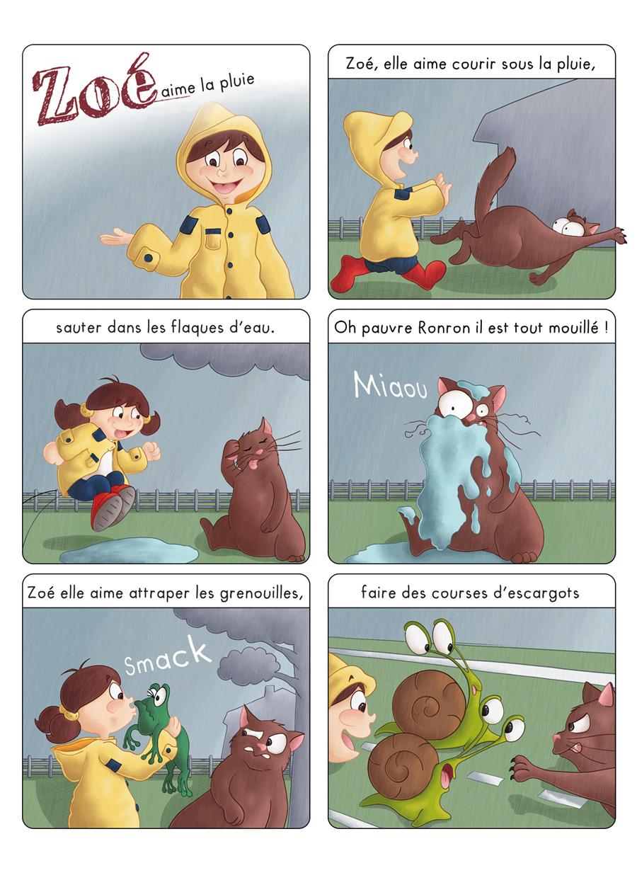 Bd jeunesse Zoé aime la pluie