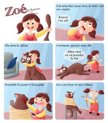BD Zoé et Ronron le chat
