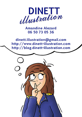 Carte de visite Dinett illustration