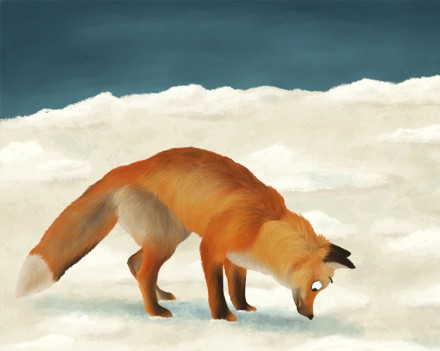 Illustration animale le renard