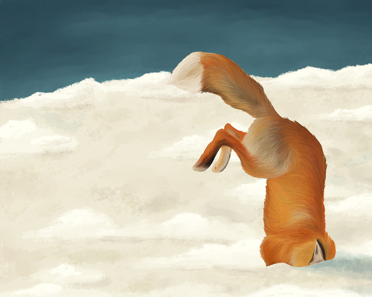 Illustration animale le renard roux