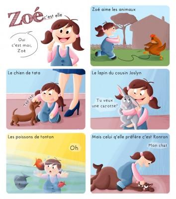 BD les aventures de Zoé