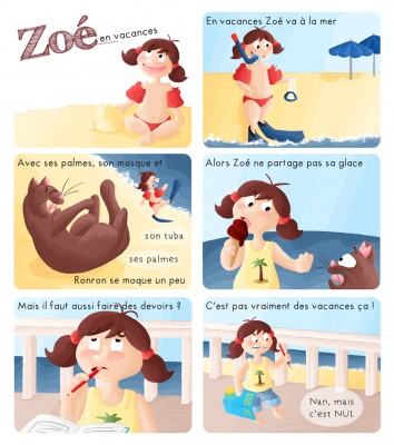 BD Zoé en vacances