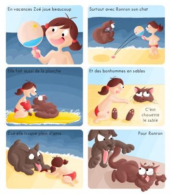 BD Zoé à la plage