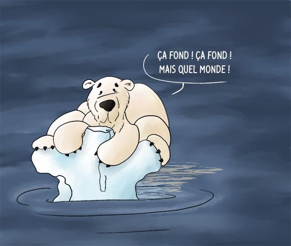 Réchauffement climatique la banquise fond