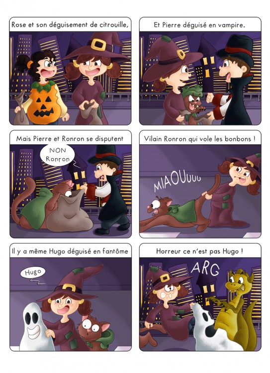 BD jeunesse Zoé fête Halloween
