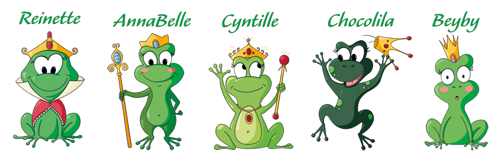 Jeu Princesses grenouilles pions du jeu
