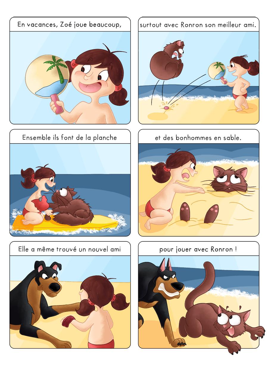 BD jeunesse Zoé vacances à la plage