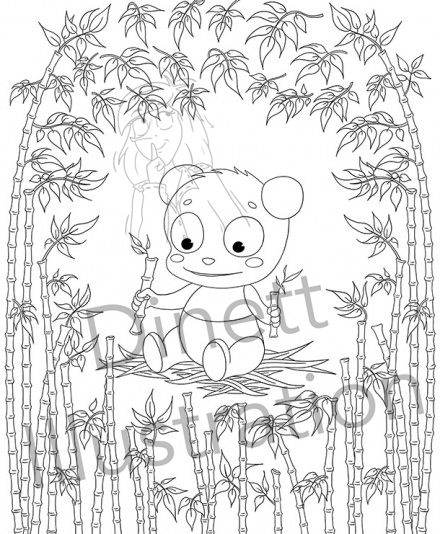 Amandine alezard illustratrice freelance dinett illustration - Coloriage panda ...