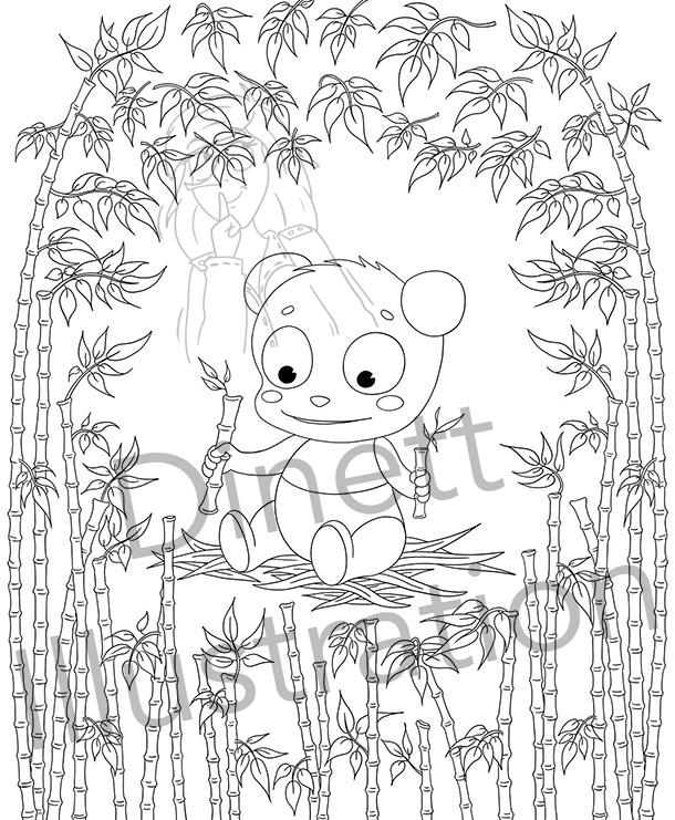Coloriage à imprimer pour enfant le panda