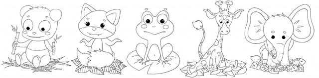 Coloriage à imprimer pour enfant les bébés animaux