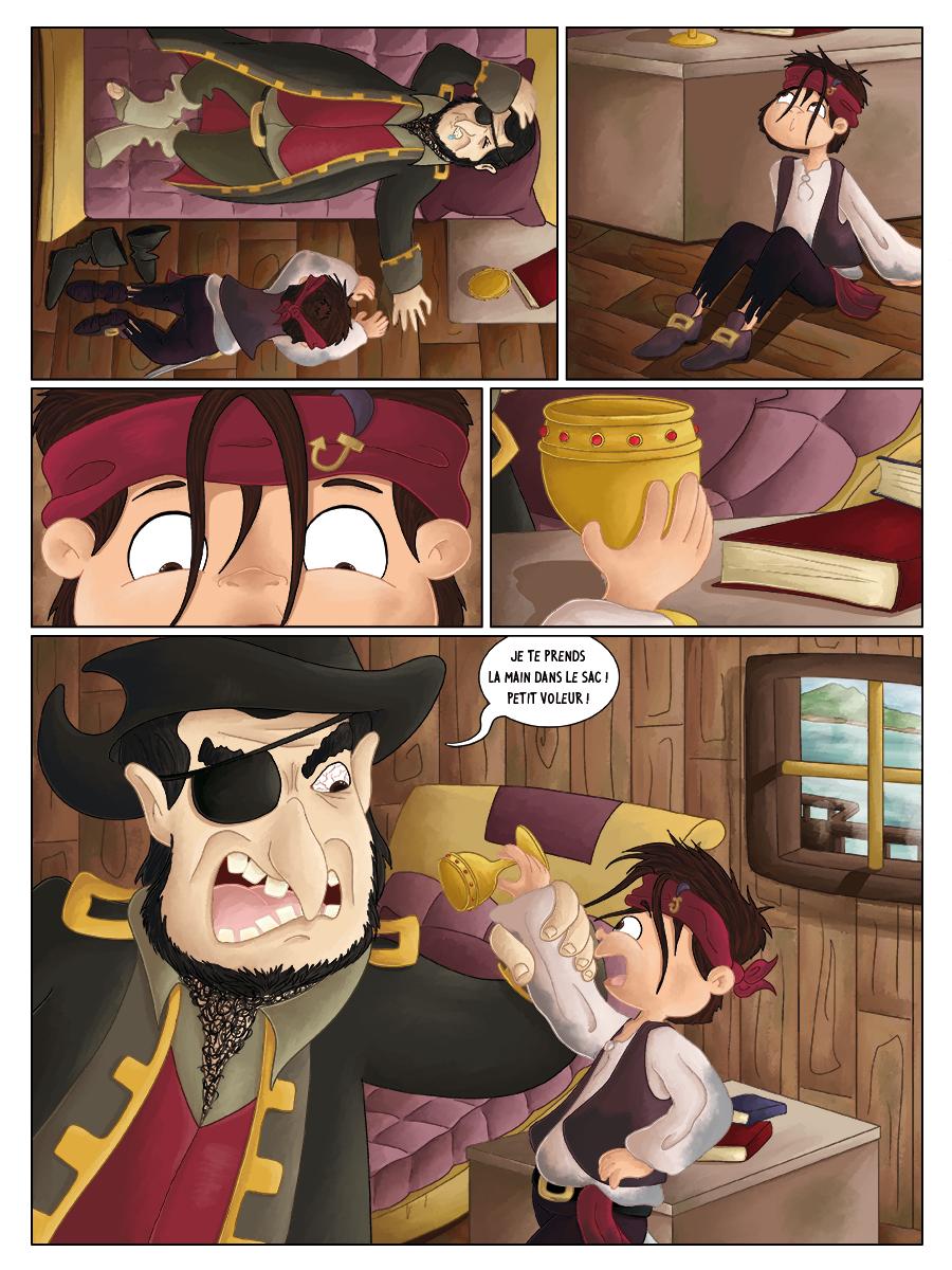 BD jeunesse les jeux de Hugo bateau pirates