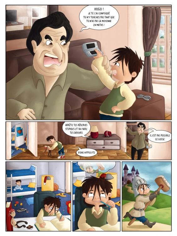 BD jeunesse les jeux de Hugo rêve ou réalité