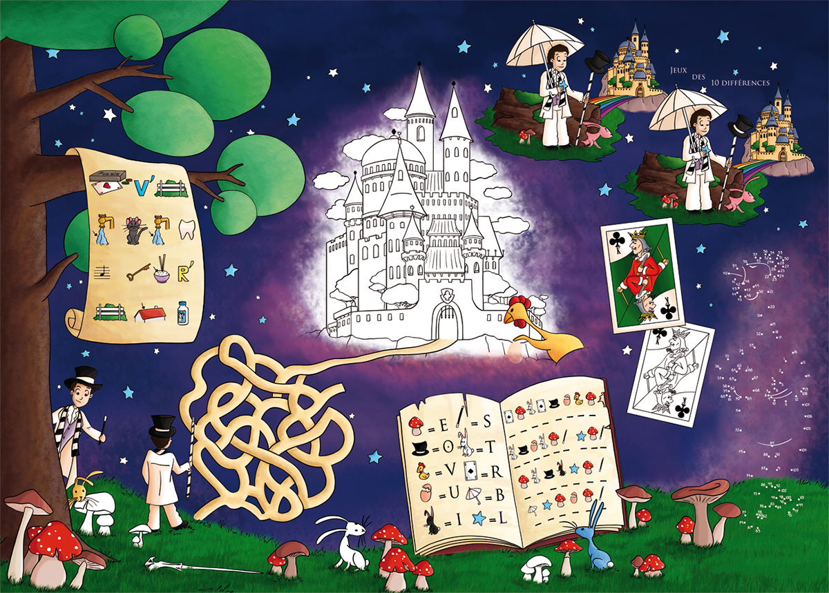 Set de jeux spectacle de magie la clairière aux étoiles