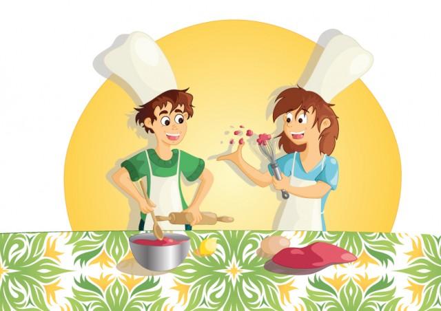 Illustration vectorielle : la recette des enfants