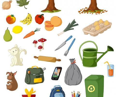 Illustrations parascolaire objets du quotidien