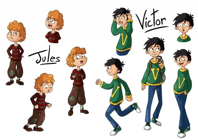 Character design : Jules et Victor