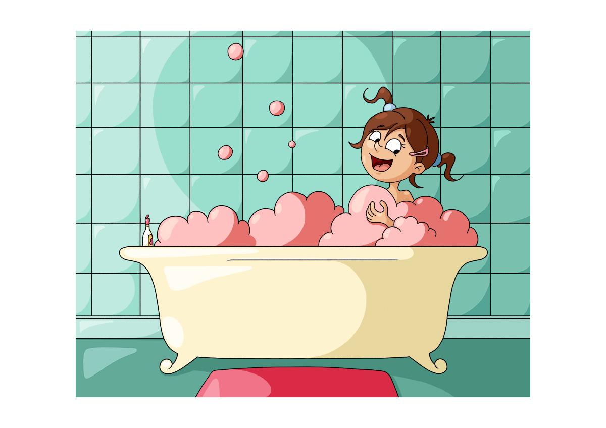 Illustration parascolaire prendre son bain