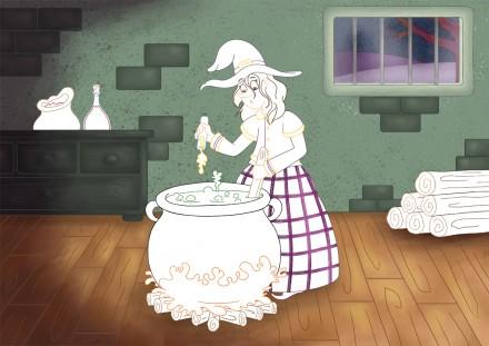 Coloriage à compléter la potion magique