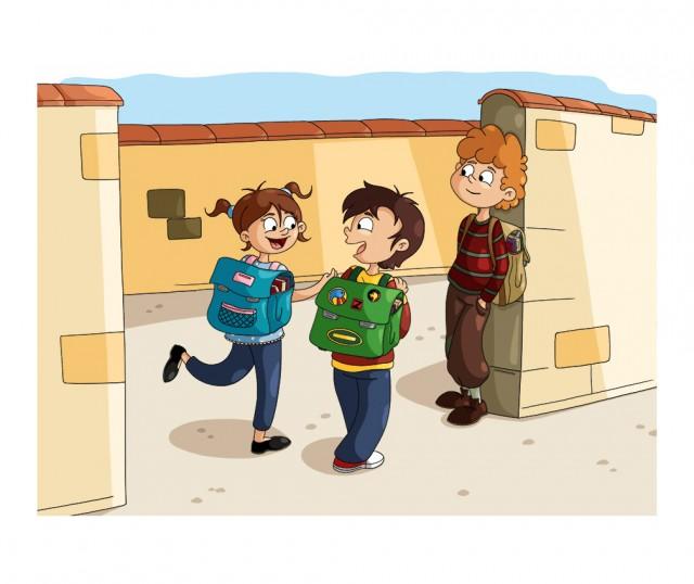 Illustration parascolaire : aller à l'école