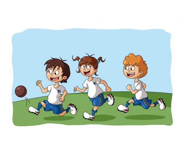Illustration parascolaire jouer au foot