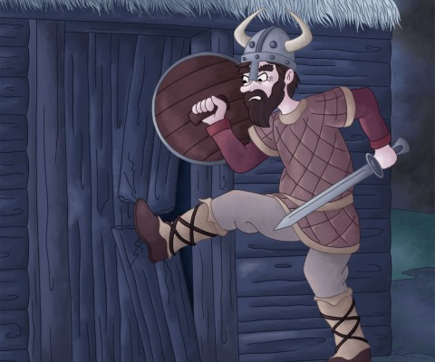 Illustration parascolaire les vikings attaquent