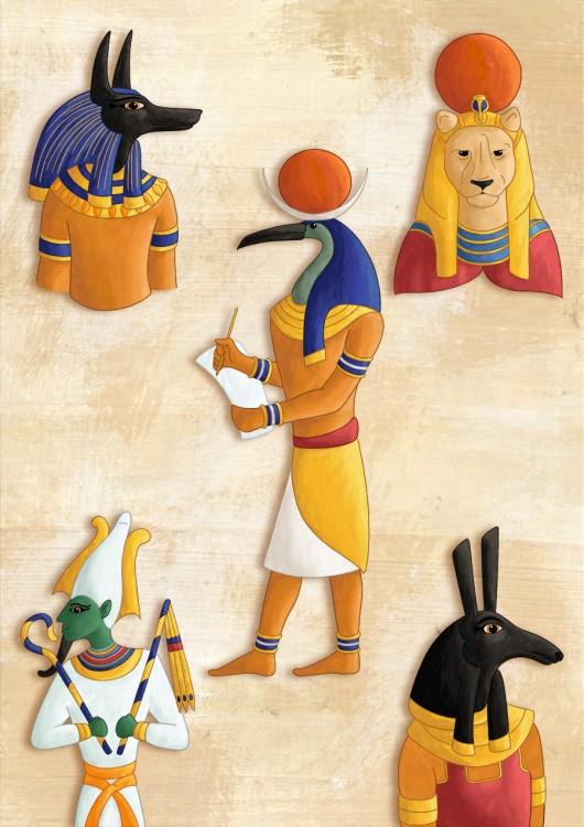 Dieux egyptien mi-homme, mi-anima