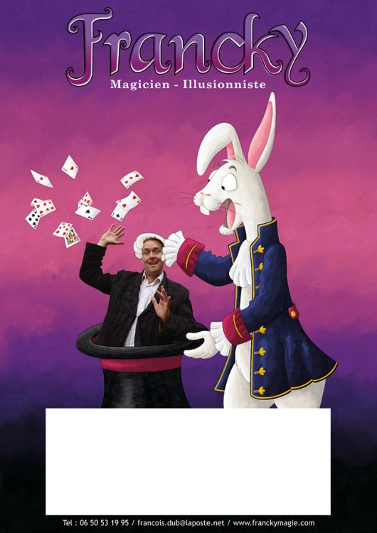 Affiche spectacle de magie de Francky le magicien