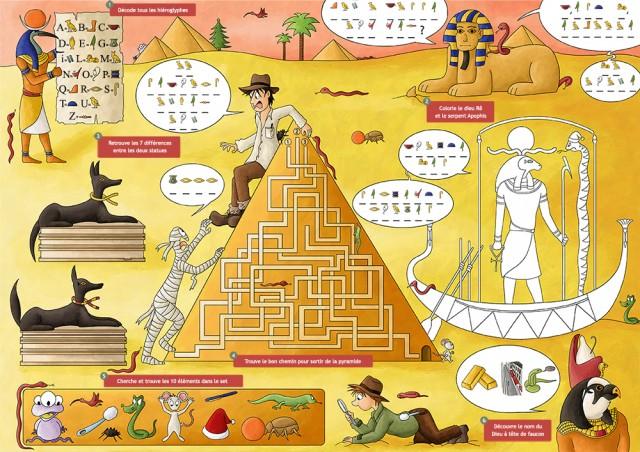 Set de jeux : l'Egypte