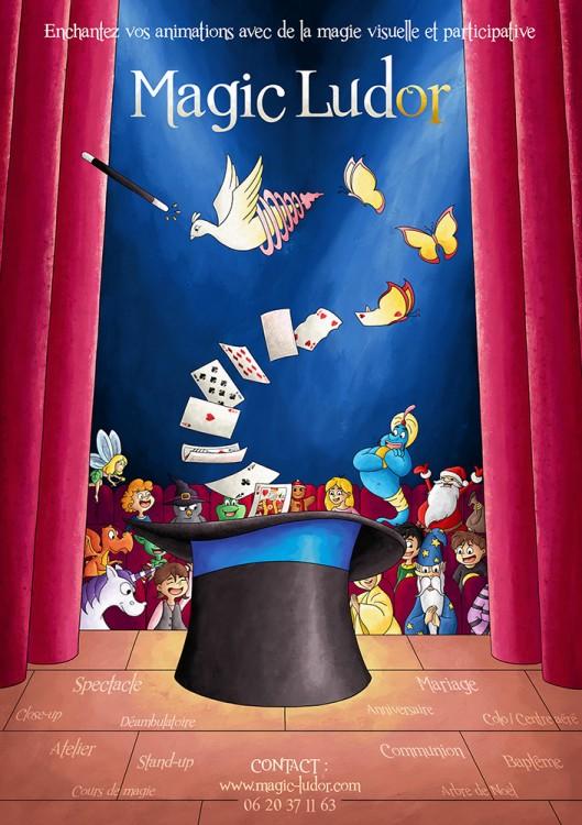 Flyer pour spectacle de magie