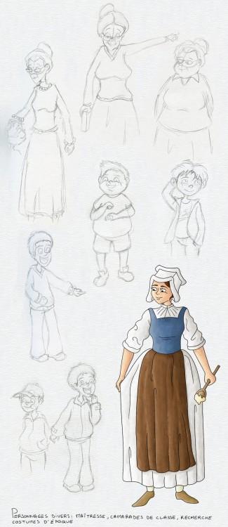 Recherches de personnages divers