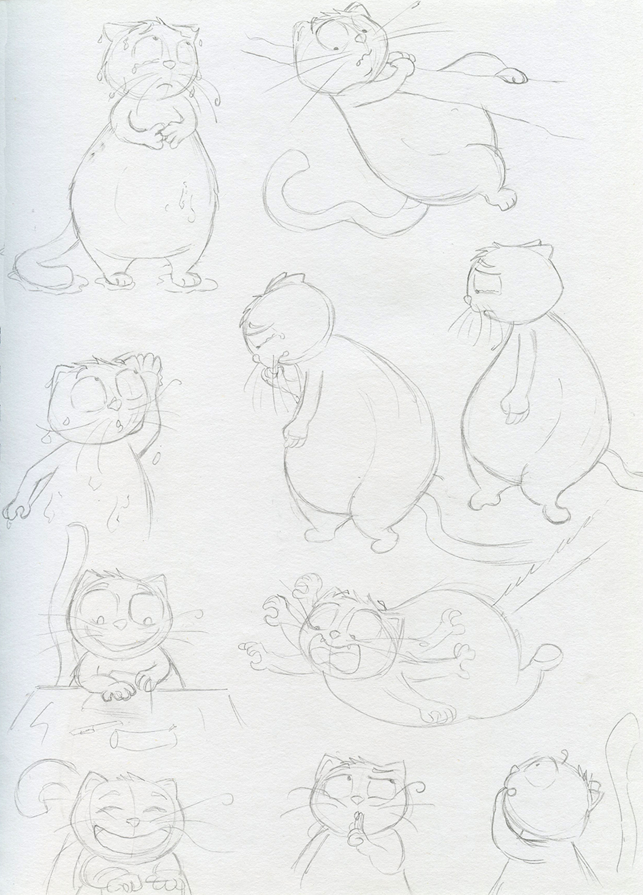 Character design gros chat
