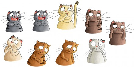 Character design : Grochat le chat