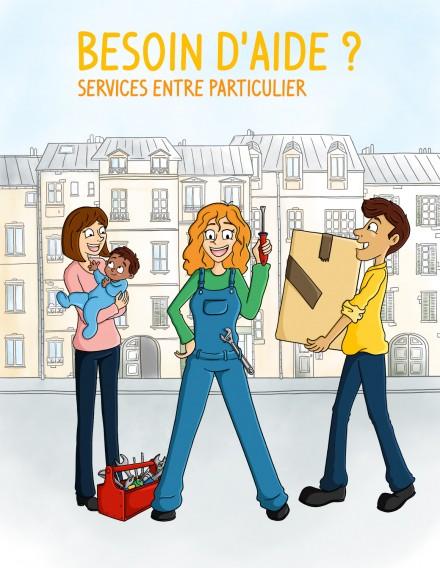 Création flyer pour Services entre particulier