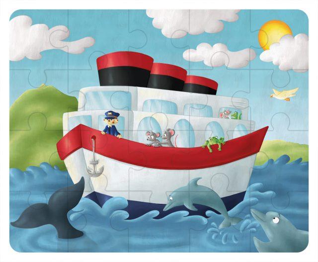 Illustration puzzle - le bateau
