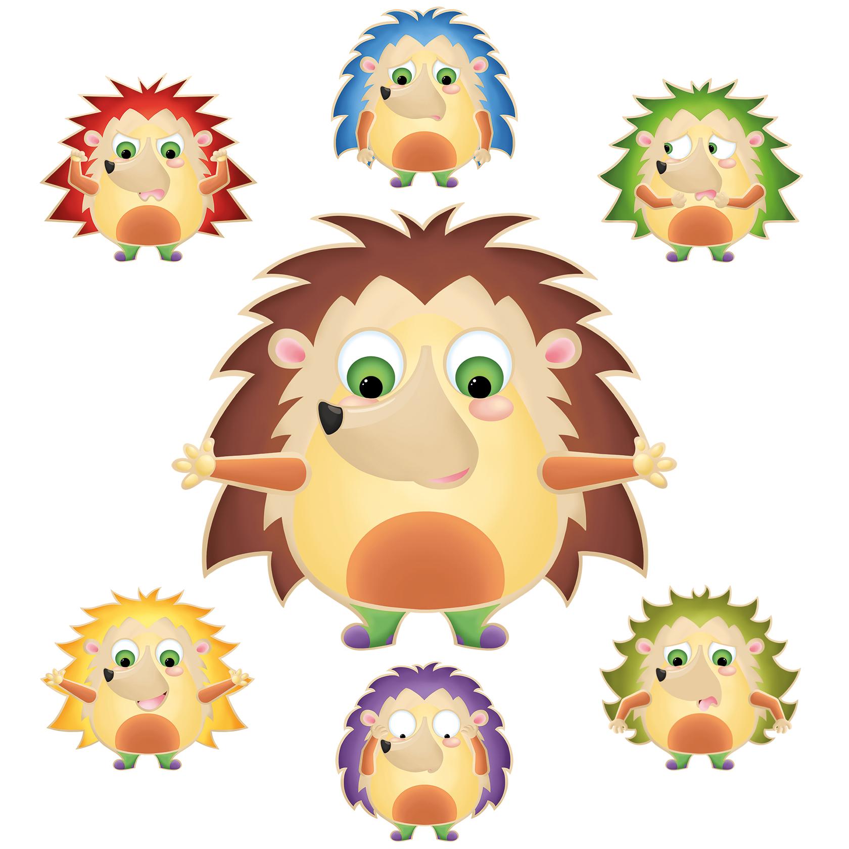 Illustration du jeu leon le hérisson des émotions