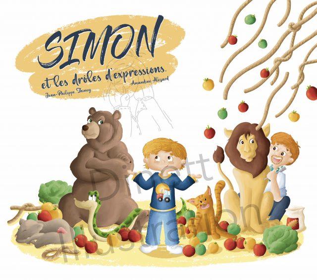 Album jeunesse Simon et les drôles d'expressions