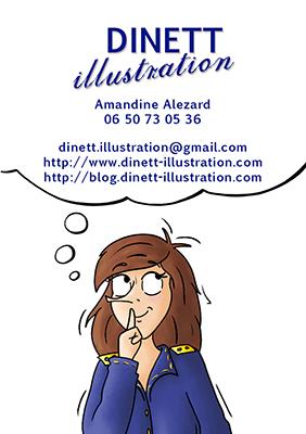 Carte de visite Dinett illustration