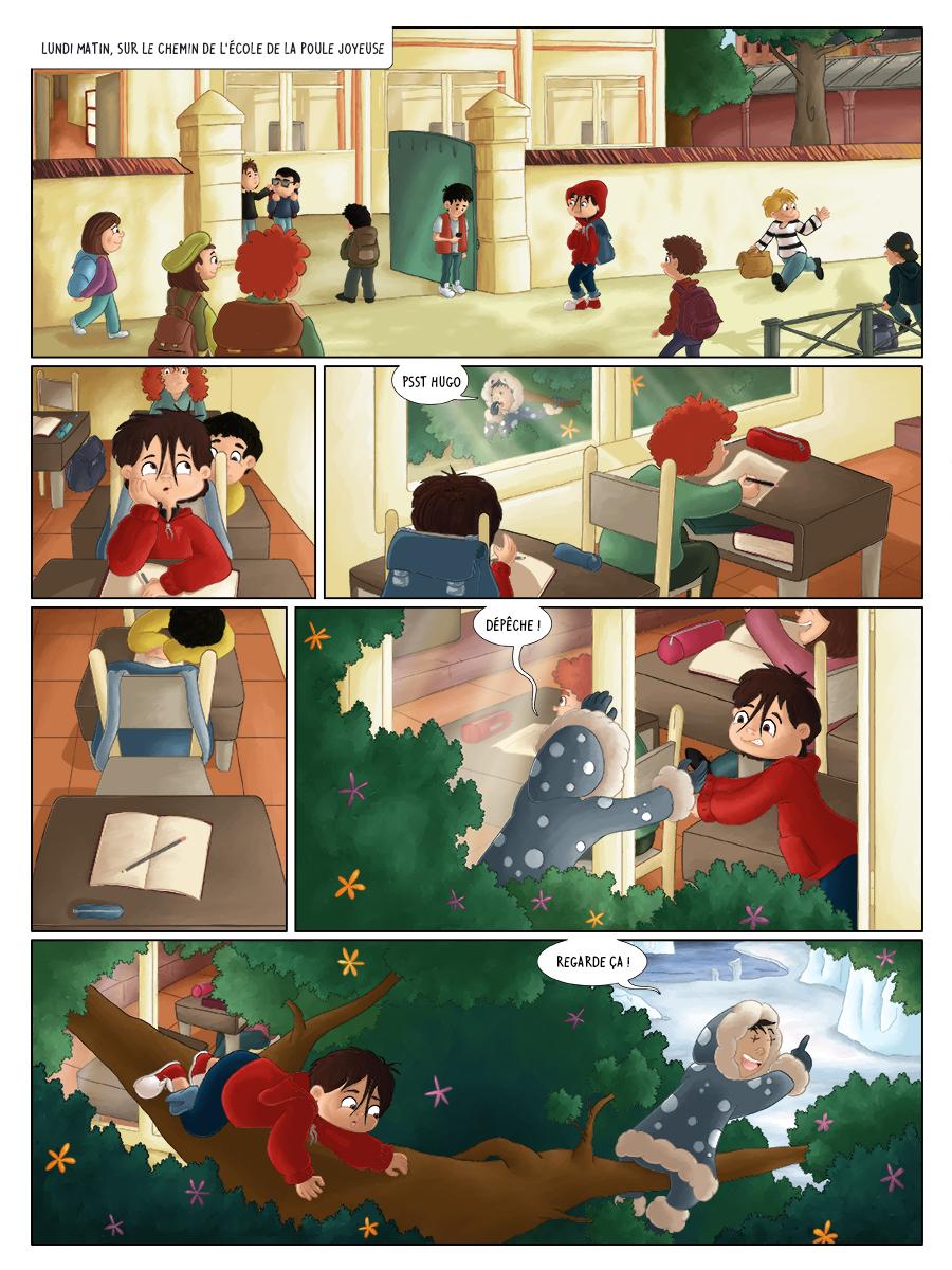 Bd jeunesse à l'école