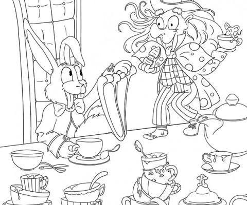 Coloriage à imprimer Alice au pays des merveilles