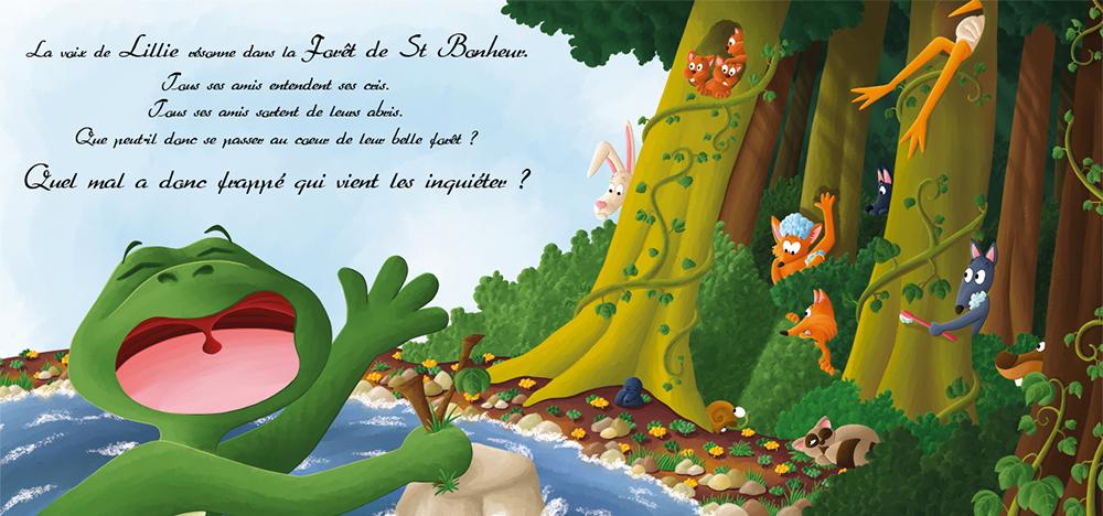 Album Lillie la grenouille qui ne savait pas nager