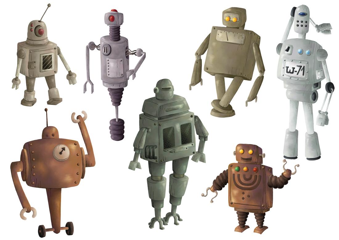 Character design robots