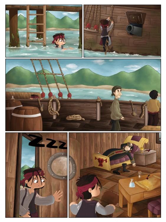 BD jeunesse les jeux de Hugo le pirates