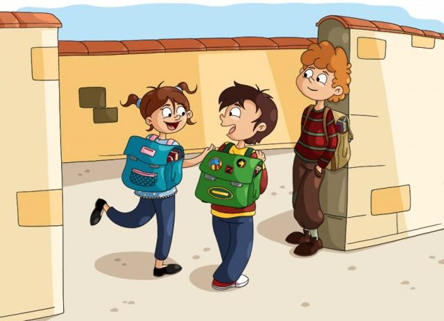 Illustration parascolaire aller à l'école