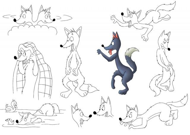 Character Design recherches loups