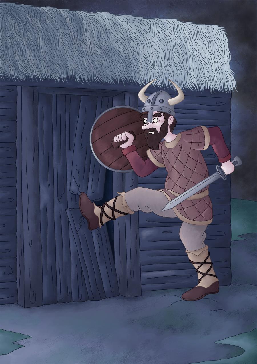 Illustration parascolaire les vikings attaquent