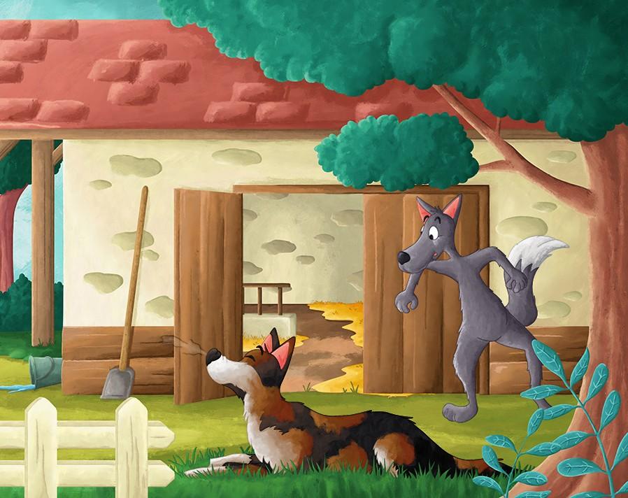 Projet album jeunesse loup affamé et l'âne du fermier