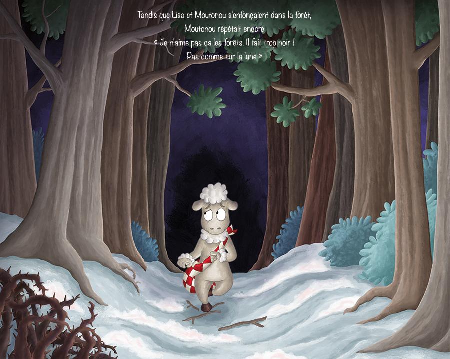 Illustration projet album jeunesse petit agneau