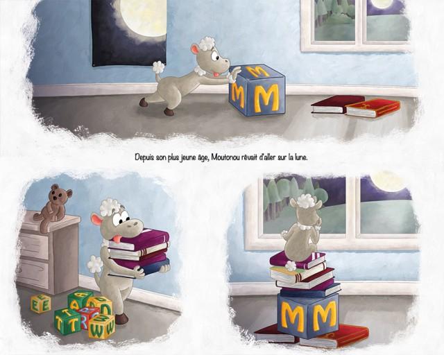 Illustration projet album jeunesse petit mouton