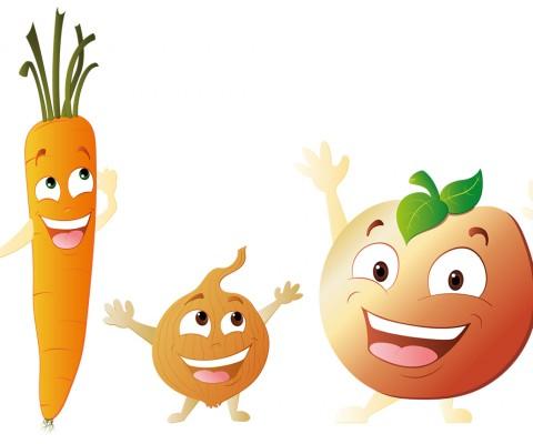 Mascotte vectorielle fruit et légume